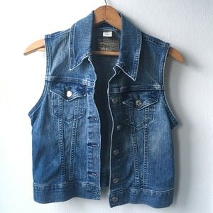 Levi's Strauss Original Riveted Jean Vest Small